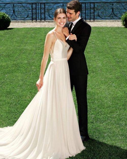 Сватбена рокля от микадо, шифон