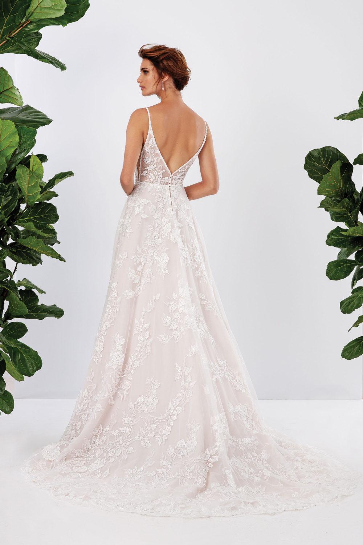 Булчинска рокля от дантела, булчинска рокля А- линия, Дантелена сватбена рокля