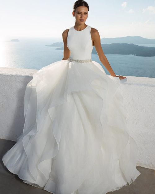 Булчинска рокля от микадо, булчинска рокля принцеса, многопластова булчинска рокля